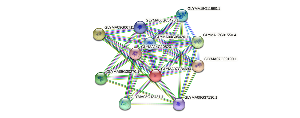 GLYMA07G34690.3 protein (Glycine max) - STRING interaction network