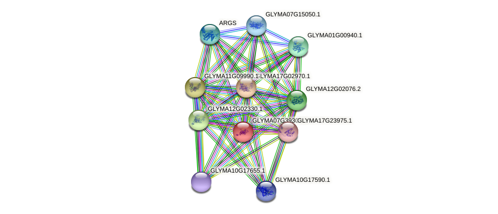 GLYMA07G39300.1 protein (Glycine max) - STRING interaction network