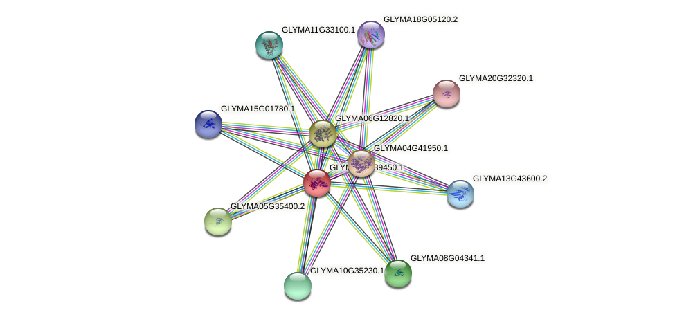GLYMA07G39450.1 protein (Glycine max) - STRING interaction network