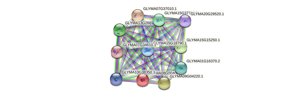 GLYMA08G00400.2 protein (Glycine max) - STRING interaction network