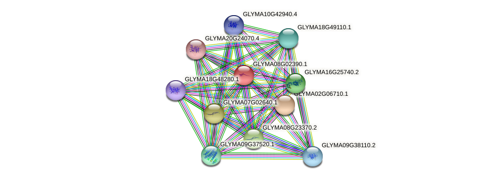 GLYMA08G02390.1 protein (Glycine max) - STRING interaction network
