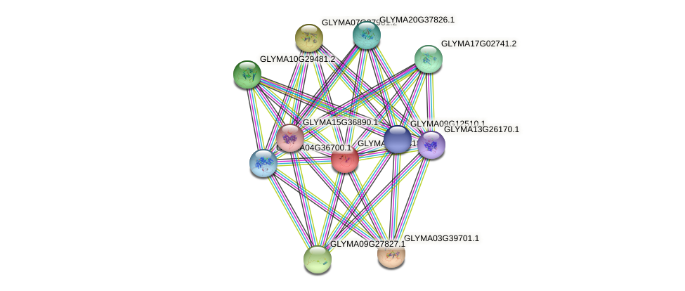 GLYMA08G04180.4 protein (Glycine max) - STRING interaction network