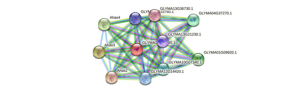 GLYMA08G13290.1 protein (Glycine max) - STRING interaction network
