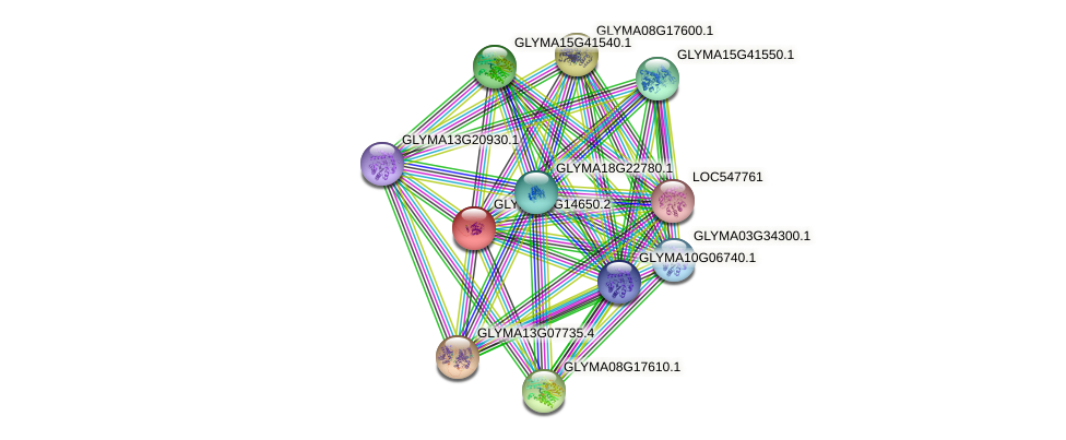 GLYMA08G14650.2 protein (Glycine max) - STRING interaction network