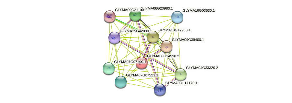 GLYMA08G14990.2 protein (Glycine max) - STRING interaction network