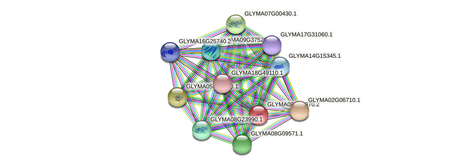 GLYMA08G23370.2 protein (Glycine max) - STRING interaction network