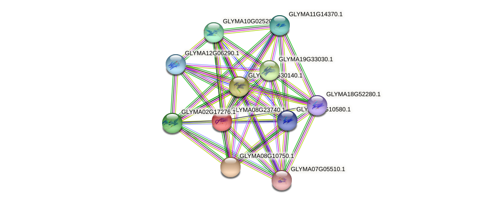 GLYMA08G23740.1 protein (Glycine max) - STRING interaction network