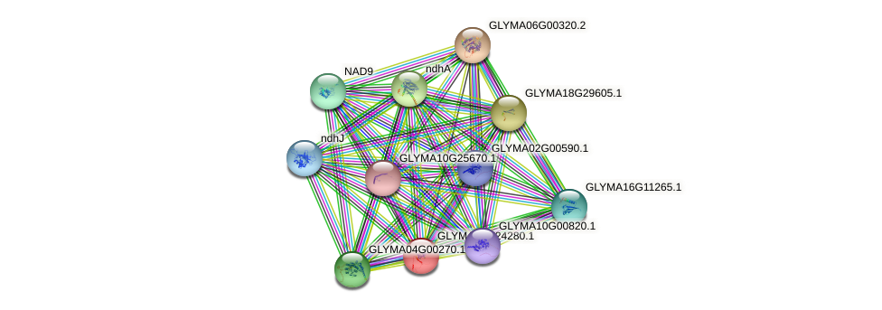 GLYMA08G24280.1 protein (Glycine max) - STRING interaction network
