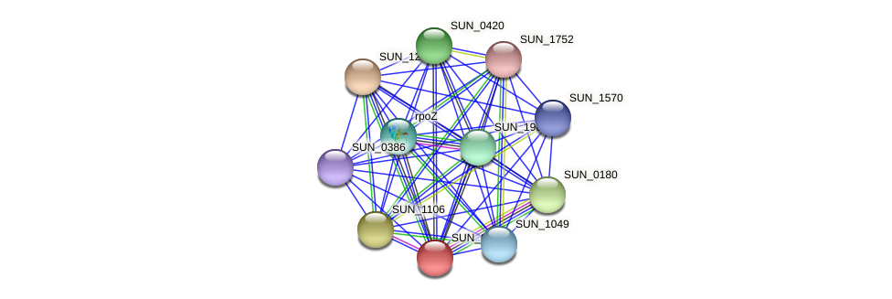 SUN_0666 protein (Sulfurovum sp. NBC371) - STRING interaction network