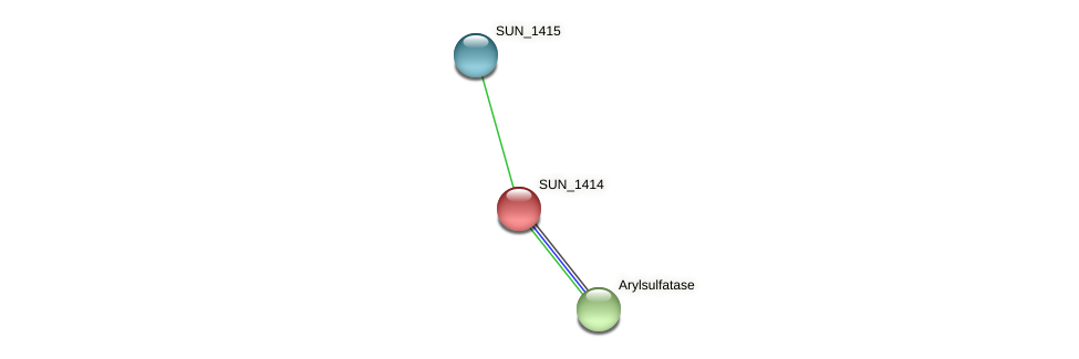 SUN_1414 protein (Sulfurovum sp. NBC371) - STRING interaction network