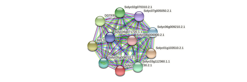 Solyc03g111230.2.1 protein (Solanum lycopersicum) - STRING interaction network