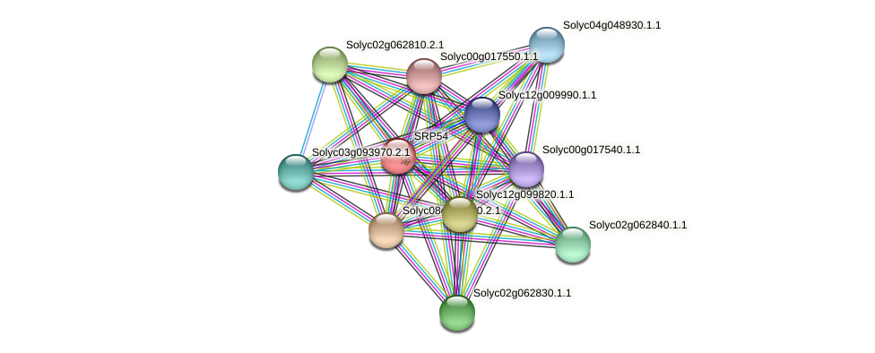 Solyc03g116810.2.1 protein (Solanum lycopersicum) - STRING interaction network