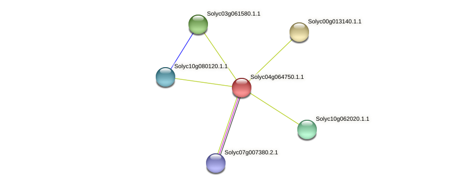 Solyc04g064750.1.1 protein (Solanum lycopersicum) - STRING interaction network