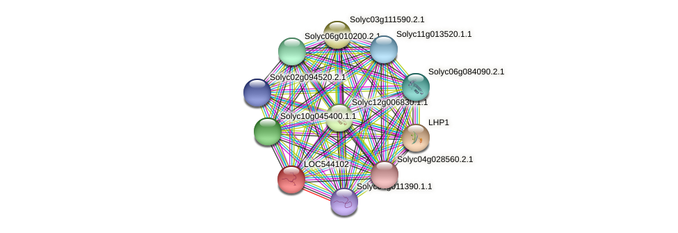 Solyc05g051500.2.1 protein (Solanum lycopersicum) - STRING interaction network