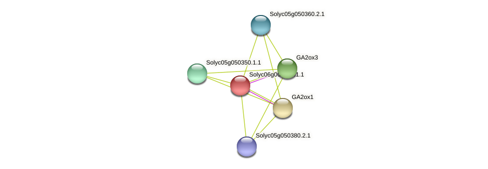 Solyc06g009610.1.1 protein (Solanum lycopersicum) - STRING interaction network