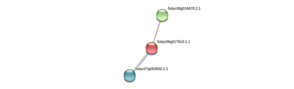 Solyc06g017910.1.1 protein (Solanum lycopersicum) - STRING interaction network
