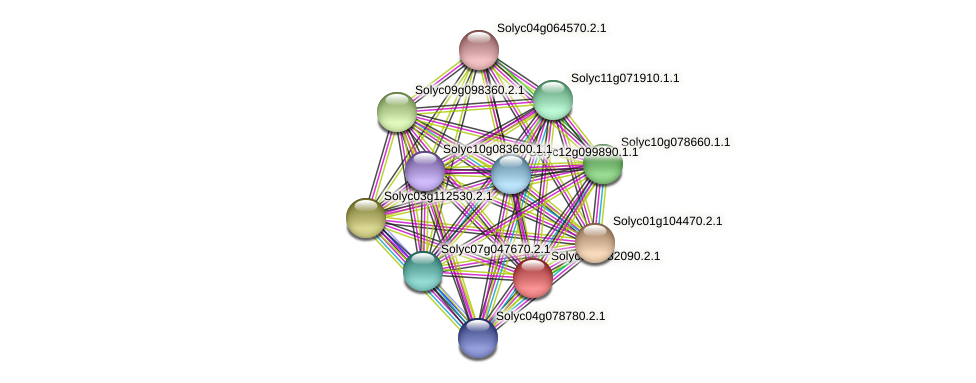 Solyc06g082090.2.1 protein (Solanum lycopersicum) - STRING interaction network