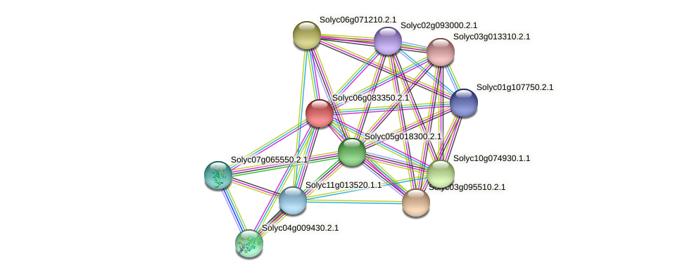 Solyc06g083350.2.1 protein (Solanum lycopersicum) - STRING interaction network
