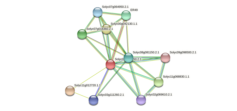 Solyc09g008850.2.1 protein (Solanum lycopersicum) - STRING interaction network