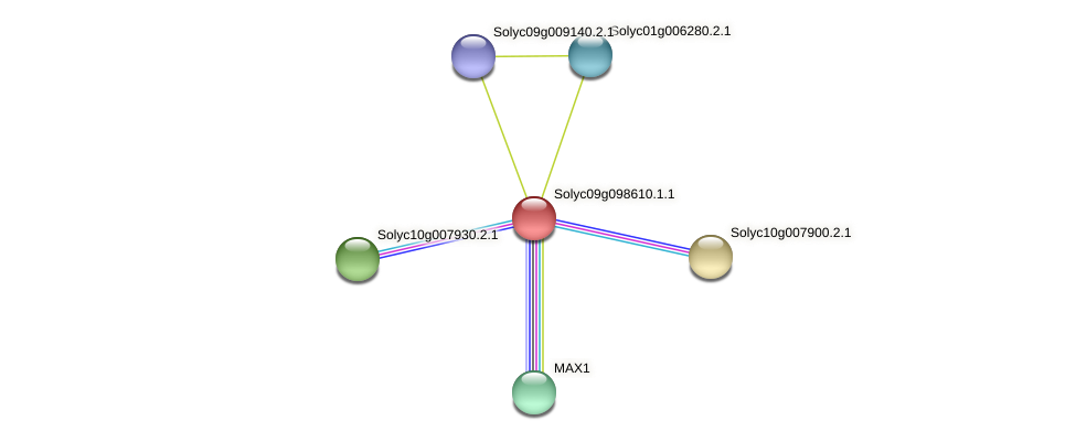 Solyc09g098610.1.1 protein (Solanum lycopersicum) - STRING interaction network