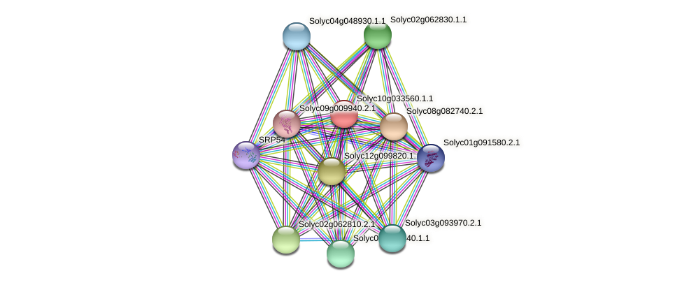 Solyc10g033560.1.1 protein (Solanum lycopersicum) - STRING interaction network