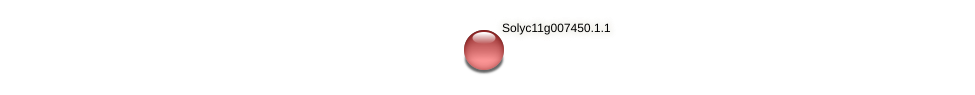 Solyc11g007450.1.1 protein (Solanum lycopersicum) - STRING interaction network