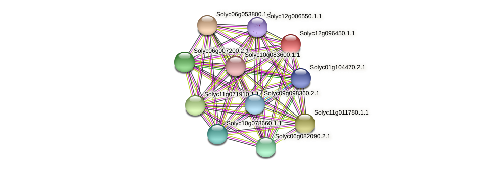 Solyc12g096450.1.1 protein (Solanum lycopersicum) - STRING interaction network