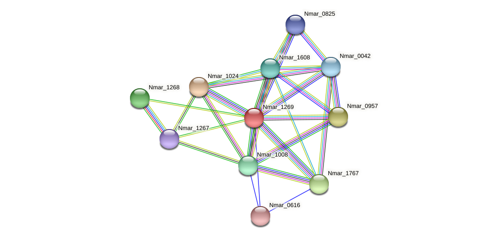Nmar_1269 protein (Nitrosopumilus maritimus) - STRING interaction network