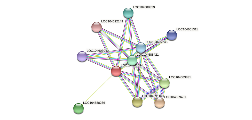 XP_010240959.1 protein (Nelumbo nucifera) - STRING interaction network
