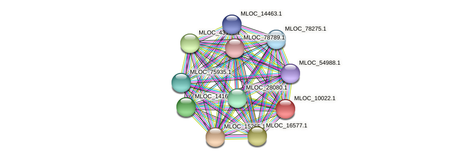 MLOC_10022.1 protein (Hordeum vulgare) - STRING interaction network