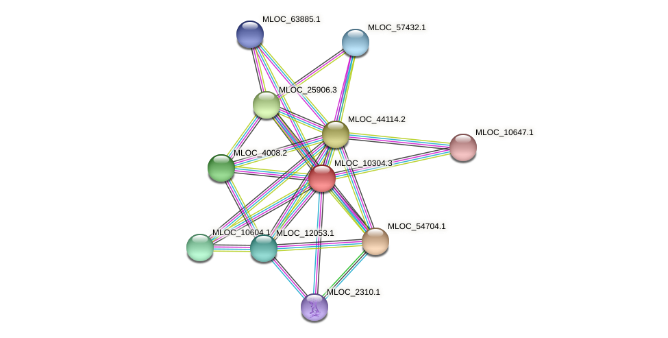 MLOC_10304.3 protein (Hordeum vulgare) - STRING interaction network