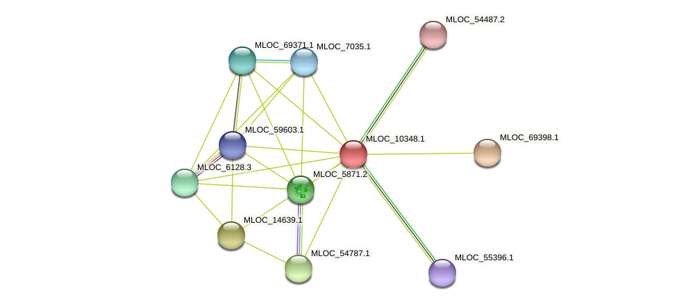 MLOC_10348.1 protein (Hordeum vulgare) - STRING interaction network