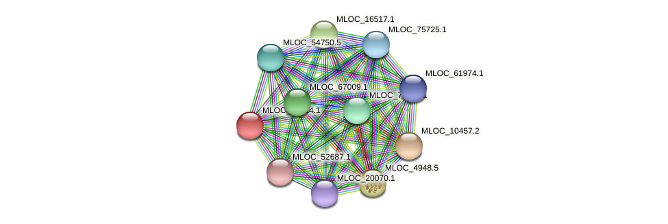 MLOC_10614.1 protein (Hordeum vulgare) - STRING interaction network