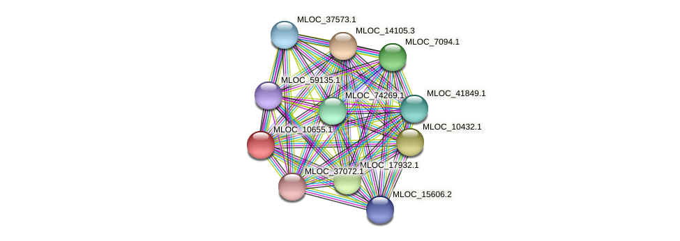 MLOC_10655.1 protein (Hordeum vulgare) - STRING interaction network