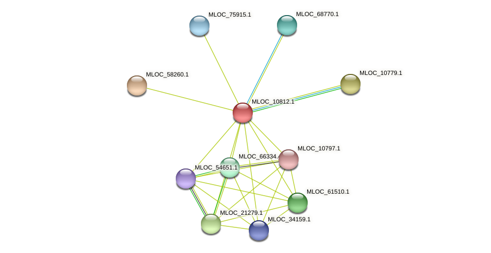MLOC_10812.1 protein (Hordeum vulgare) - STRING interaction network