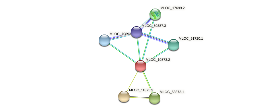 MLOC_10873.2 protein (Hordeum vulgare) - STRING interaction network