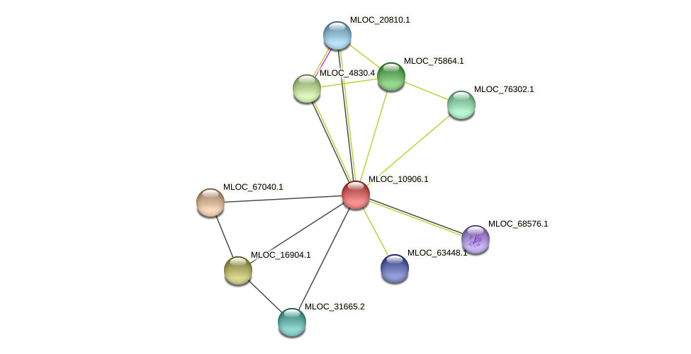 MLOC_10906.1 protein (Hordeum vulgare) - STRING interaction network
