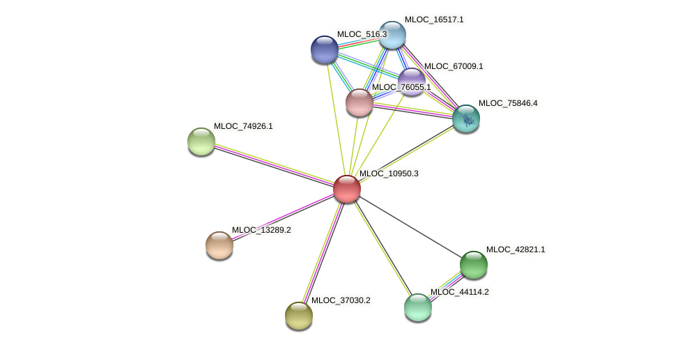 MLOC_10950.3 protein (Hordeum vulgare) - STRING interaction network