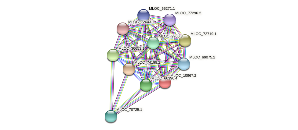 MLOC_10967.2 protein (Hordeum vulgare) - STRING interaction network