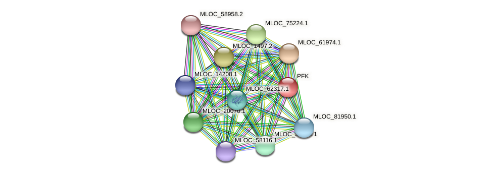 MLOC_11145.1 protein (Hordeum vulgare) - STRING interaction network