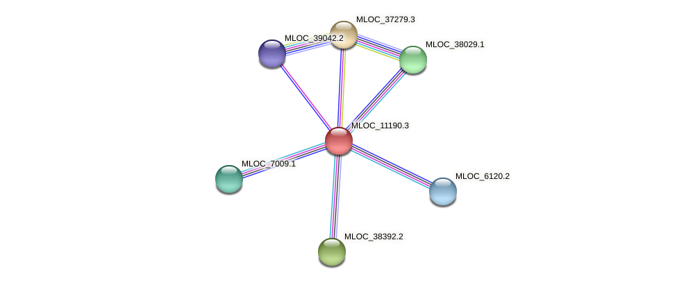 MLOC_11190.3 protein (Hordeum vulgare) - STRING interaction network