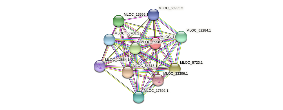MLOC_11230.1 protein (Hordeum vulgare) - STRING interaction network