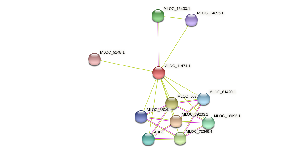 MLOC_11474.1 protein (Hordeum vulgare) - STRING interaction network