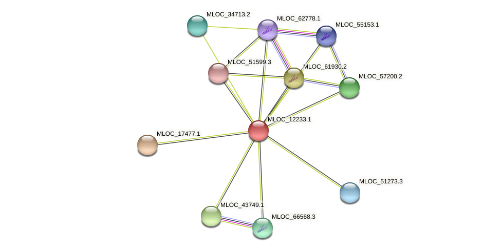 MLOC_12233.1 protein (Hordeum vulgare) - STRING interaction network