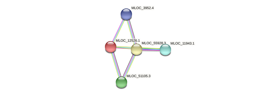 MLOC_12526.1 protein (Hordeum vulgare) - STRING interaction network
