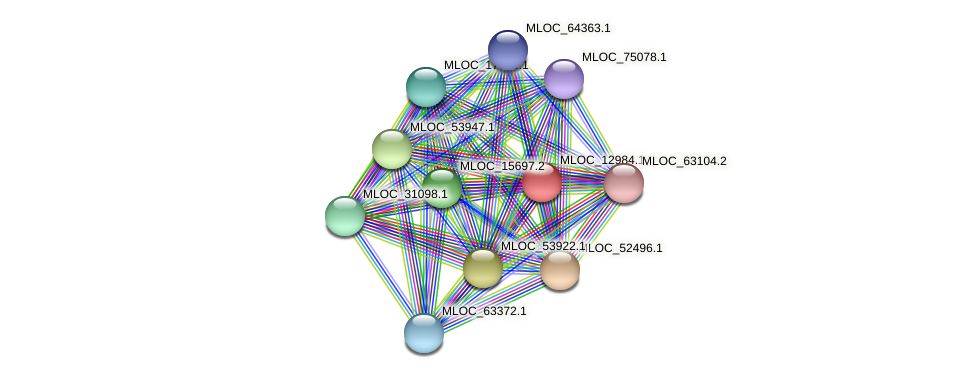MLOC_12984.1 protein (Hordeum vulgare) - STRING interaction network
