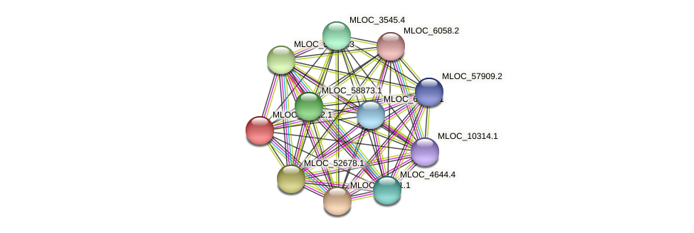 MLOC_13112.1 protein (Hordeum vulgare) - STRING interaction network