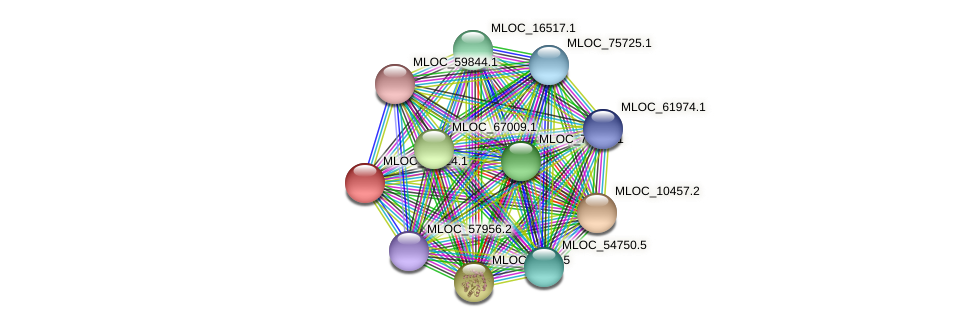 MLOC_14324.1 protein (Hordeum vulgare) - STRING interaction network