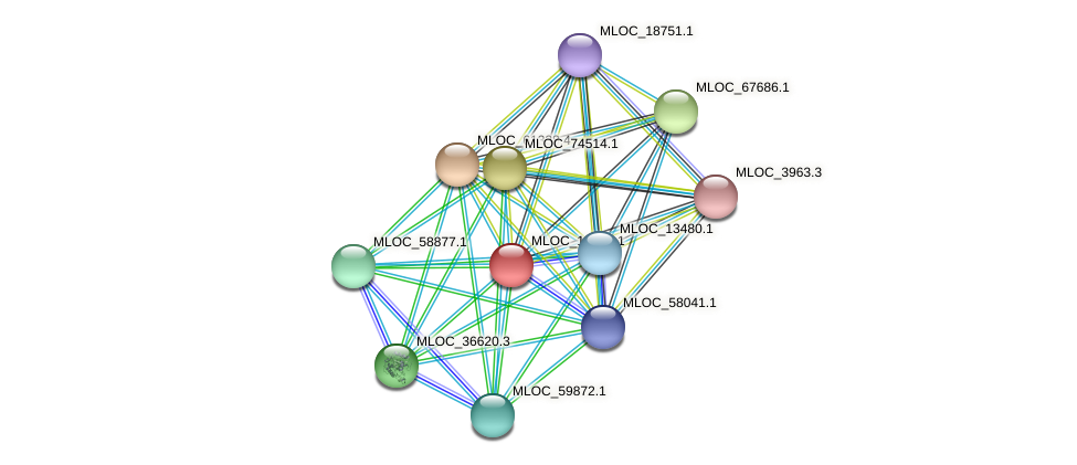 MLOC_14773.1 protein (Hordeum vulgare) - STRING interaction network