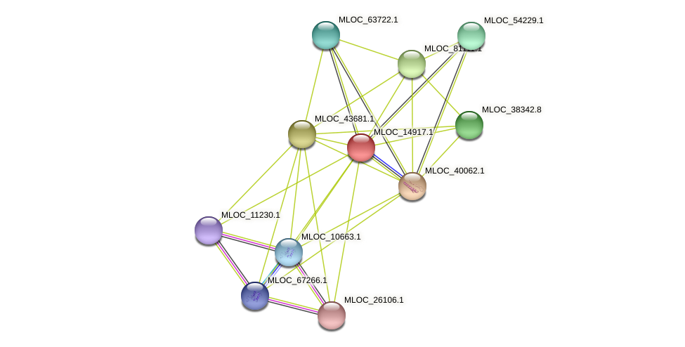 MLOC_14917.1 protein (Hordeum vulgare) - STRING interaction network